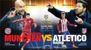 Live Skor Hasil Bayern Munchen vs Atletico Madrid 2 - 1
